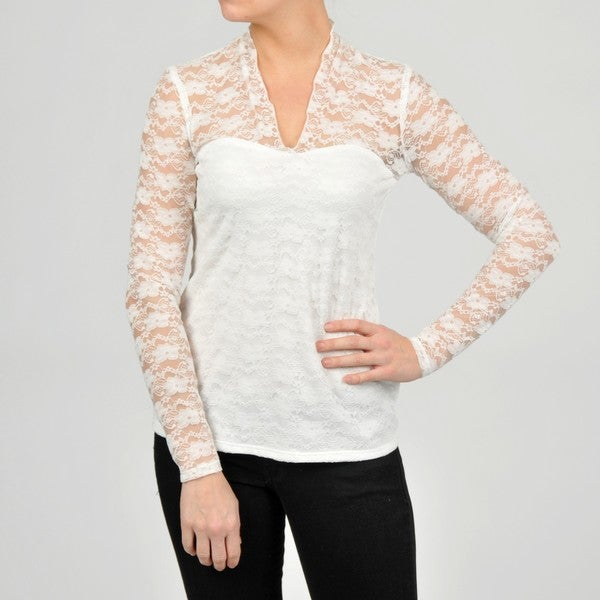 AnnaLee + Hope Women's Lace Top