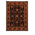 Hand-Tufted Tempest Black/Rust Area Rug (8' x 11')
