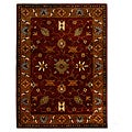 Hand-Tufted Tempest Red/Gold Area Rug (8' x 11')
