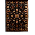 Hand-Tufted Tempest Black/Gold Wool Area Rug (8' x 11')