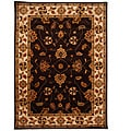 Hand-Tufted Tempest Dark Brown/Beige Area Rug (8' x 11')