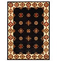 Traditional Hand-Tufted Tempest Black/Ivory Area Rug (8' x 11')