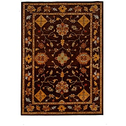 Hand-Tufted Tempest Dark Brown/Red Area Rug (8' x 11')
