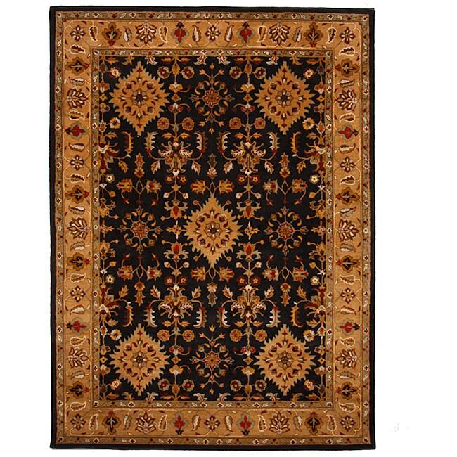 Hand-Tufted Oriental Tempest Black/Tan Area Rug (8' x 11')