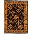 Hand-Tufted Oriental Tempest Black/Tan Area Rug (8' x 11')
