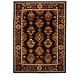 Hand-Tufted Tempest Dark Brown/Ivory Oriental Area Rug (8' x 11')