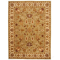 Hand-Tufted Tempest Light Green/Gold Area Rug (8' x 11')