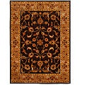 Hand-Tufted Tempest Dark.Brown/Tan Area Rug (8' x 11')