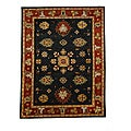 Hand-Tufted Tempest Black/Red Area Rug (8' x 11')