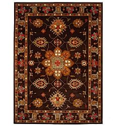 Hand-Tufted Tempest Dark Brown/Tan Oriental Area Rug (8' x 11')