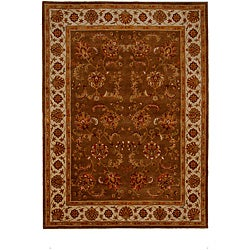Hand-Tufted Tempest Brown/Ivory Area Rug (8' x 11')