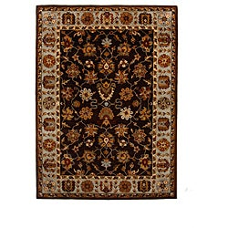 Hand-Tufted Tempest Dark Brown/Grey Area Rug (8' x 11')