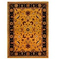 Hand-Tufted Tempest Gold/Black Area Rug (8' x 11')