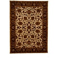 Hand-Tufted Tempest Ivory/Dark Brown Area Rug (8' x 11')