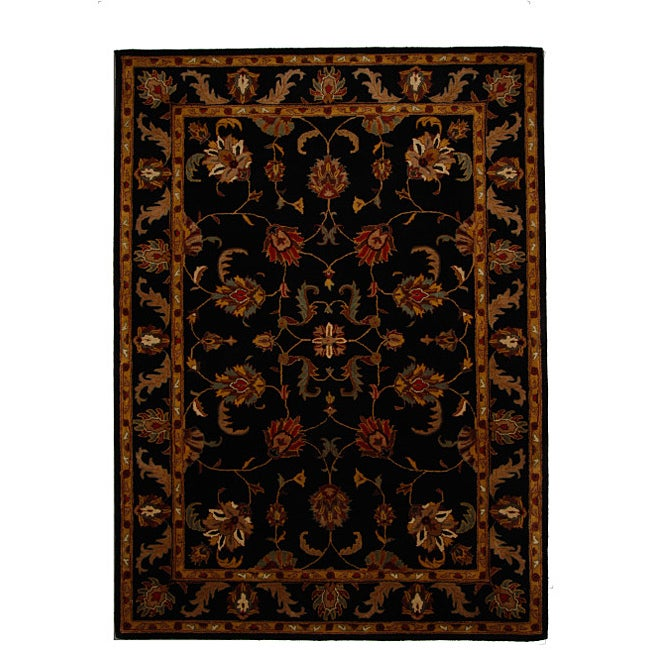 Hand-Tufted Tempest Black/Gold Area Rug (8' x 11')