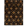 Hand-Tufted Tempest Black/Gold Oriental Area Rug (8' x 11')