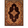 Tranditional Hand-Tufted Tempest Dark Brown/Tan Area Rug (8' x 11')