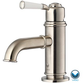 VIGO Boreas Single Handle Bathroom  Faucet in  Brushed Nickel Finish