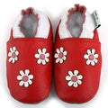Three Flowers Soft Sole Leather Baby Shoes
