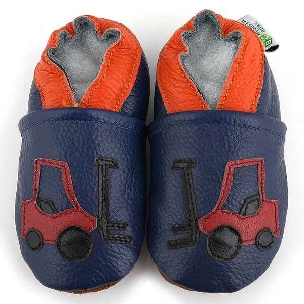 Forklift Soft Sole Leather Baby Shoes