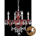 Christopher Knight Home Red 4-light Chandelier