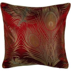 Peacock Feathers 18x18 Inch Pillow
