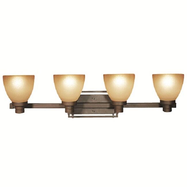 Woodbridge Lighting Wayman 4-light Bronze Bath Bar Light Fixture