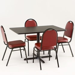 Holland Bar Stool Red Commercial Dining Set