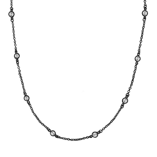 Sterling Silver Clear Cubic Zirconia 18-inch By-the-yard Necklace