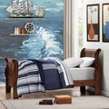 TRIBECCA HOME Canterbury Louis Phillip Cherry Twin-size Sleigh Bed