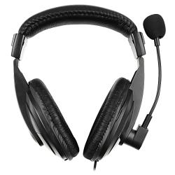 Black VOIP/SKYPE Hands-free Headset/Microphone with Adjustable Volume