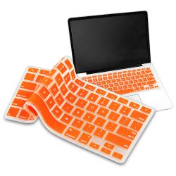 Orange Silicone Keyboard Skin Shield for Apple MacBook Pro