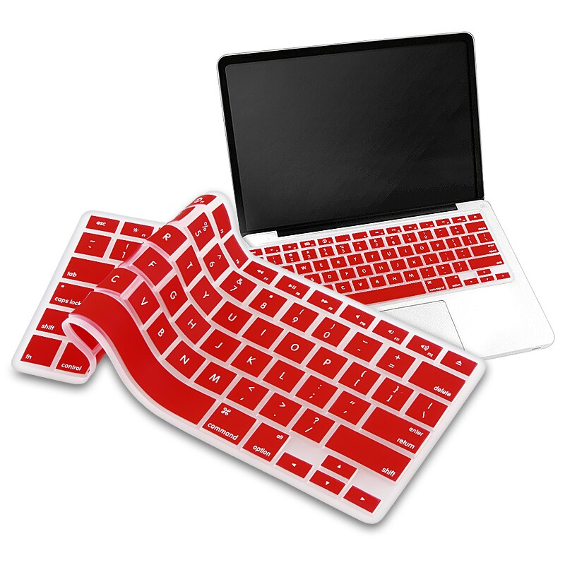 INSTEN Red Soft Silicone Keyboard Skin Shield for Apple MacBook Pro