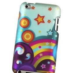 Star Rainbow Snap-on Rubber Coated Case for Apple iPod Touch 4th Gen
