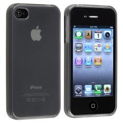 Clear Frost Smoke TPU Rubber Skin Case for Apple iPhone 4/ 4S