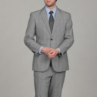 Adolfo Men's Grey Plaid Suit