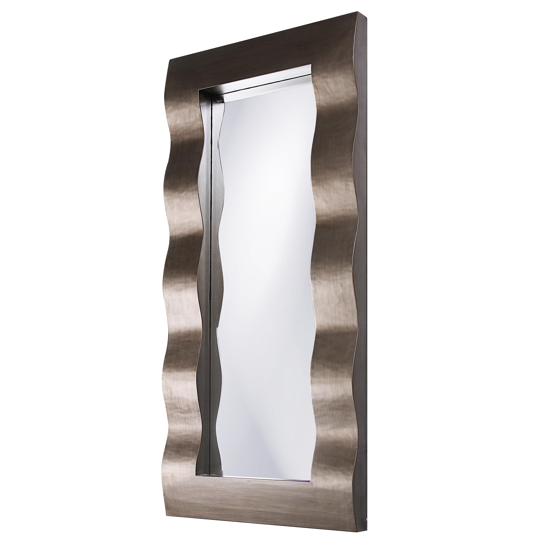 Meridien Silver Resin Wavy Mirror
