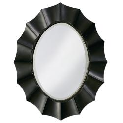 Cosmos Black Resin Wavy Round Mirror