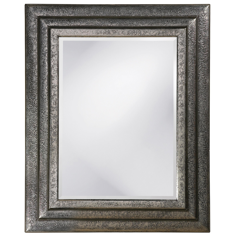 Asher Nickel Wood Fillagree Mirror