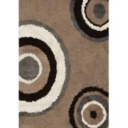 Synergy Tan Contemporary Rug (6'6 x 9'8)