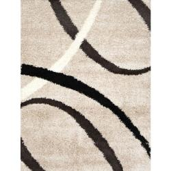 Contemporary Beige Shag Rug (6'6 x 9'8)