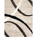 Synergy Beige Abstract Rug (4'9 x 6'6)