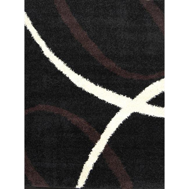 Abstract Shaggy Rug (6'6 x 9'8)