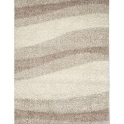 Synergy Tan/ Cream Wave Rug (4'9 x 6'6)