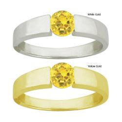 10k Gold Crystal Golden Topaz Ring