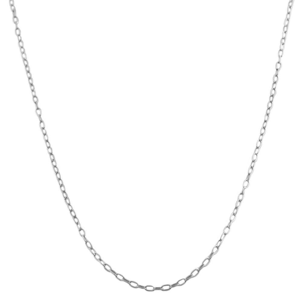 Fremada Sterling Silver 20-inch Cable Link Chain Necklace