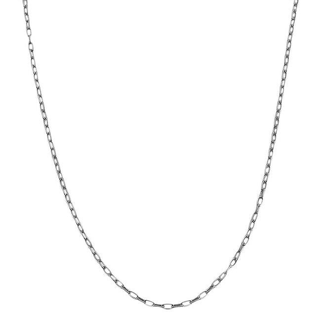 Fremada Sterling Silver 24-inch Mixed Link Chain Necklace