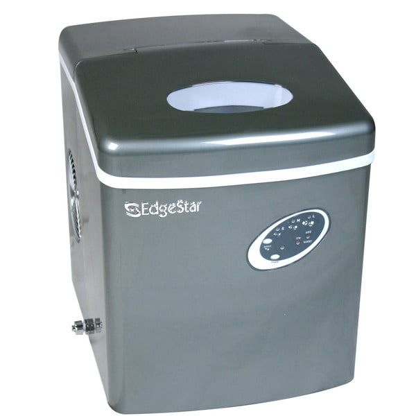 EdgeStar Countertop Titanium Portable Ice Maker - 14037213 - Overstock ...