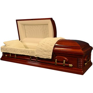 Star Legacy's Natural Cherry Wood Deluxe Casket