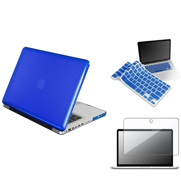 INSTEN Blue Laptop Case Cover/ Screen Protector/ Keyboard Shield for Apple MacBook Pro